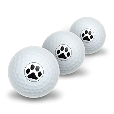 Paw Print - Pet Dog Cat Novelty Golf Balls 3 Pack
