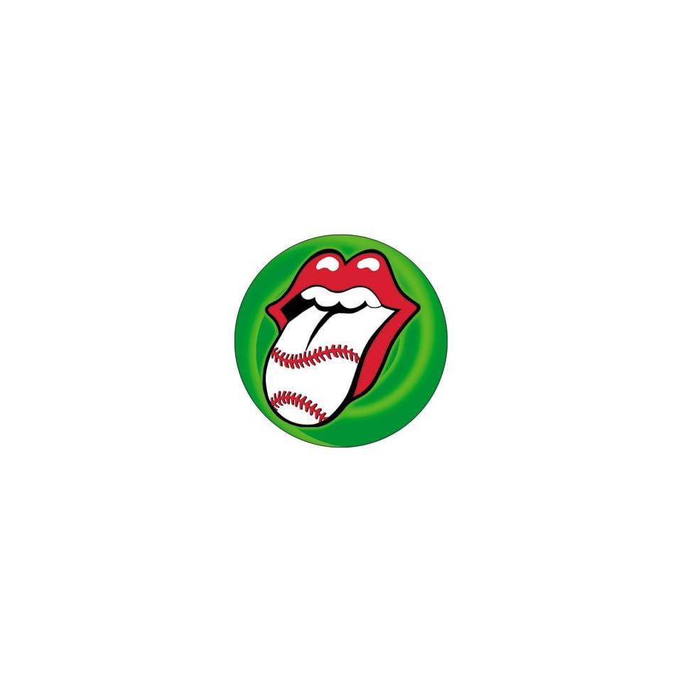 Rolling Stones Baseball Tongue Button B 3212