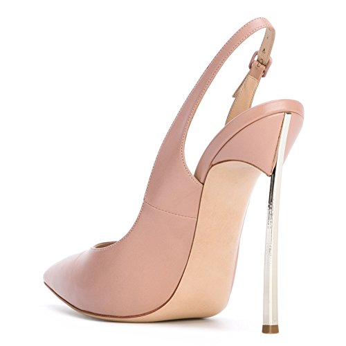 Metal Toe Heels Bowknot Stiletto Onlymaker Women's Pointed Sexy High Court Shoes pink B pqnww6IHf