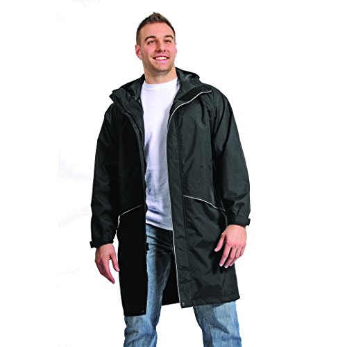 Galeton 12259-XL-BK Repel Rainwear Rain Coat with Reflective Piping and Pockets, X-Large, Black by Galeton