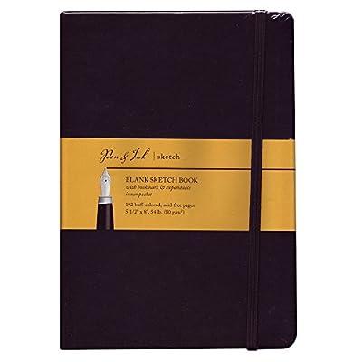 Pen & Ink Notebook 5.5X8 Blank Medium Wt