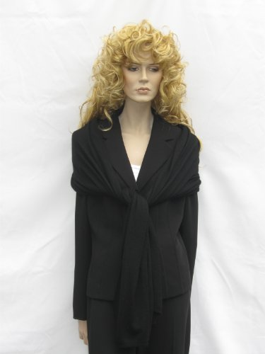 Cashmere Pashmina Group: Cashmere Scarf Shawl Stole Wrap (Sweater Knit Cashmere Shawl) Black by Cashmere Pashmina Group (Image #8)