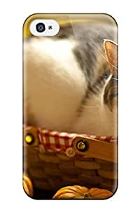 Defender Case For Iphone 4/4s, Cat In A Basket Pattern