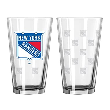 NHL New York Rangers Pint Glass Set (Pack of 2), 16-Ounce
