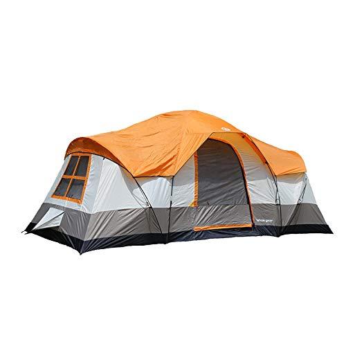 - Tahoe Gear Olympia 10 Person 3 Season Tent, Orange/Ivory | TGT-OLYMPIA-10-B