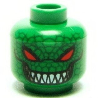 Killer Croc- Lego Batman Minifigure Head