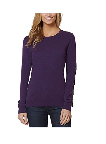Magaschoni Womens Sweater (Magaschoni Womens Ribbed Long Sleeves Pullover Sweater (Small, Magenta Purple))