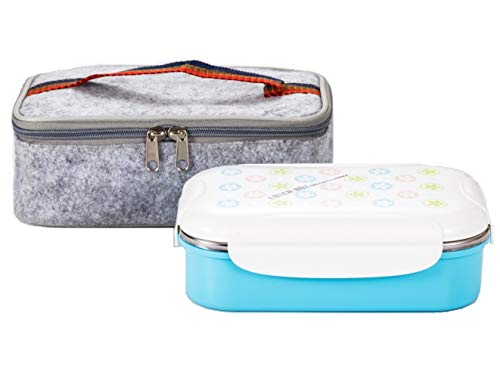 Lille 22oz Stainless Steel Leakproof Lunch Box, Insulated Bento Boxes   Thermal Food Container with Insulated Lunch Bag for Work   2nd Gen with Durable Handle and Lid   BPA free   Adult, Women, Kid