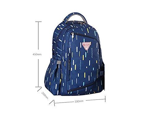 Bolso de la momia, multi-función aumentar la capacidad de la bolsa de hombro, bolsa de la madre de la moda, la madre y el niño mochila ( Color : Rojo ) Azul oscuro