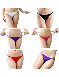 6e19d2e033b Women Sexy Thongs Underpants High Elasticity Panty G-String Underwear Set of  6