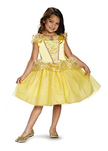 [Disguise Belle Classic Disney Princess Beauty & The Beast Costume, One Color, Medium/7-8] (Beauty And The Beast Costume Belle)