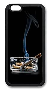 ACESR Cigarettes On Ashtray Top iPhone 6 Case TPU Back Cover Case for Apple iPhone 6 4.7inch Black