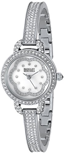 badgley-mischka-womens-ba-1343wmsb-swarovski-crystal-accented-silver-tone-bangle-watch