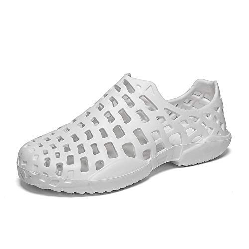 MetY Women's Beach Walking Sandals, Comfortable Water Shoes Casual Garden Shoes White ()