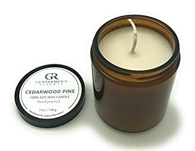 Gentlemen's Reserve Cedarwood Pine Scented Candle for Men - All-Natural 100% Soy Candle with Manly Scent