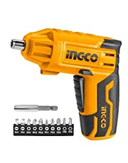 inGCO CSDLI0401 Lithium-Ion Electric Screwdriver with Bits - 4 Volt