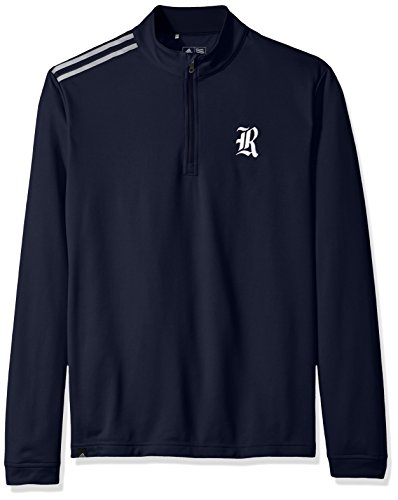adidas NCAA Rice Owls Adult Men Spring Game 3-Stripe 1/4 Zip Pullover,Medium,Navy