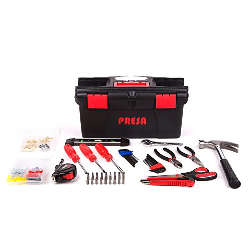 Presa Homeowner's Tool Kit Set, 150 Pieces of Essential Tools and Hardware You Need