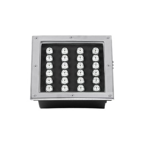 LUMINTURS 24W LED RGB Color Changing Outdoor Buried Spot Light Square Fixture Underground Lamp
