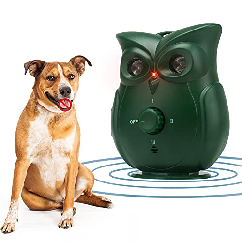 Ultrasonic Dog Barking Deterrent Device, Rechargeable Anti Barking Device for Dog Training and Bark Control with 3…