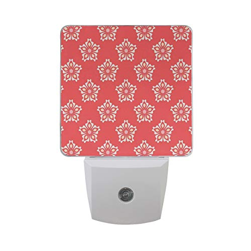 Colorful Plug in Night,Abstract Tribal Mandala Pattern Various Female Girl Floral Victorian Shapes Artwork,Auto Sensor LED Dusk to Dawn Night Light Plug in Indoor for Childs Adults -