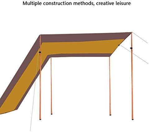 Toldo parasol Pergola Módulo de bloqueo UV exterior cubierta tienda de campaña plateada Super Multi-Personen Camping Canopy aparcamiento pequeña cabaña, Fibra sintética, marrón, 4*3*2.4m: Amazon.es: Hogar