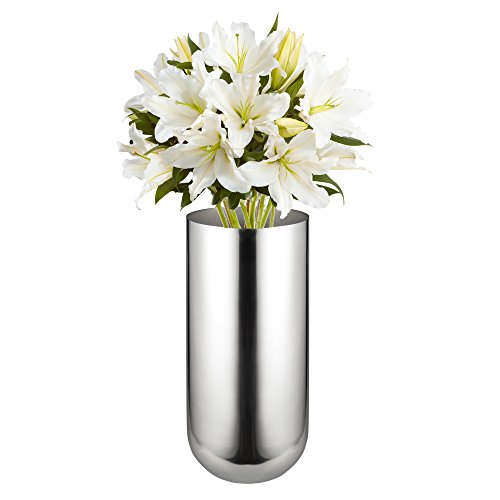 - Feyarl Flower Vase Stainless Steel Decorative Vase for Home, Party, Wedding Centerpiece, 9