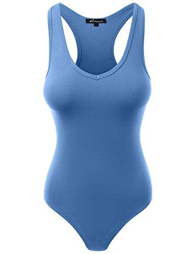 - Jumpsuit Racerback Tank Top Bodysuits Royal Blue L
