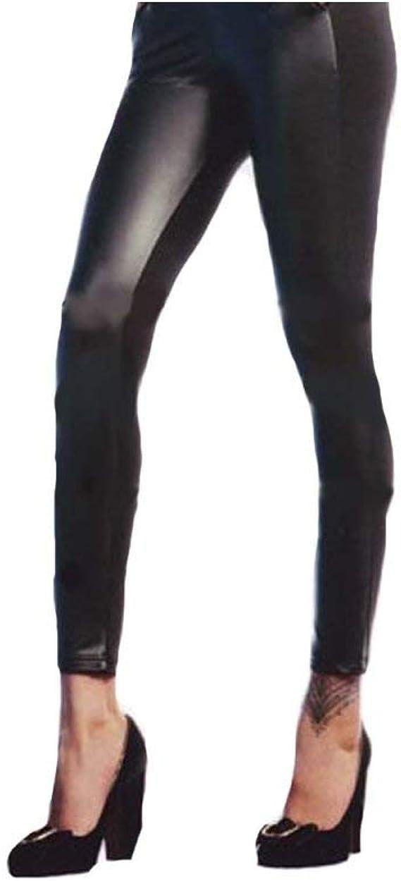 Leggings Fuseaux Pantacollant Donna RossoPorpora S//M-L//XL Cotone elasticizzato 1