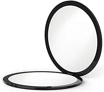 BEST COMPACT MIRROR - 10X MAGNIFYING MakeUp Mirror - Perfect for Purses - Travel - 2-sided with 10X Magnifying Mirror and 1x Mirror - ClassZ Compact Mirror(No battery included)