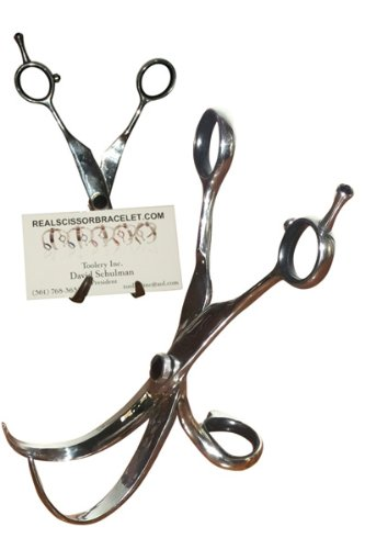 Business Card Holder Made from Real Scissors