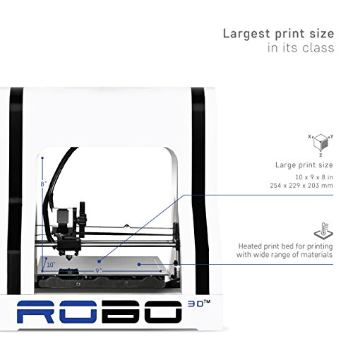Robo-R1-ABSPLA-Assembled-3D-Printer-Big-Build-Volume-8x9x10-Easy-to-Use-Open-Source-Same-Features-Better-Price-Amazon-Exclusive