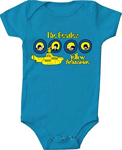 (Bravado The Beatles Potholes Blue Infant Baby Rock and Roll Creeper Romper (6 Months))