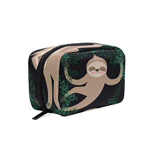 Sleeping Sloth Travel Work Make-Up Cosmetic Bag Storage Bag, Storage Beauty Essentials,Cosmetics,Toiletries - One main bag, Five compartment bags -