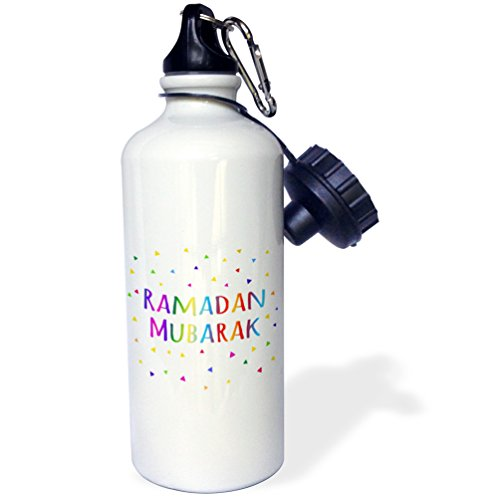 Price comparison product image 3dRose wb_202099_1 Ramadan Mubarak Blessing for The Start of Muslim Fasting Festival Sports Water Bottle,  21 oz,  Brown