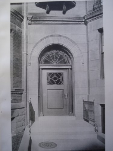 Entrance to the House of Francis B. Rice, Esq. on Beacon Street , Boston, MA