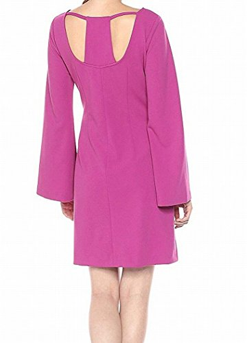 Cutout Dress Womens Morgan Sheath Bell Purple Donna Sleeve wIBqOO1
