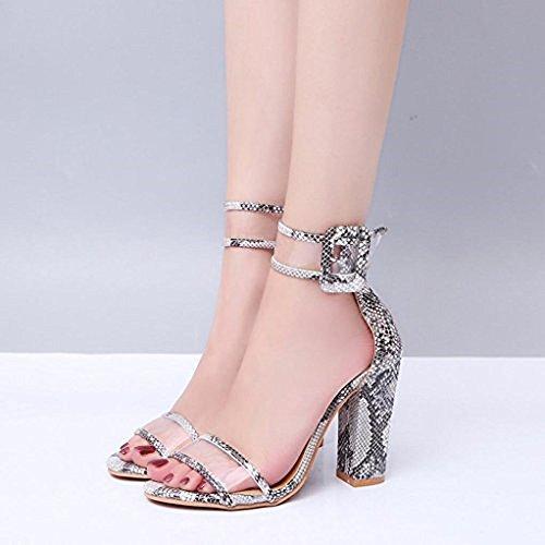 34 Elegante Boda Negro Transparente Cm Fiesta Rojo Serpiente Sexy Para  Mujer Sandalia Moda Hebilla 43 Oro Verano Comodos Con Punta Azul 10 Alto  Tacon ... a6749637d197
