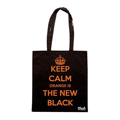 Borsa Keep Calm Orange Is The New Black - Nera - Film by Mush Dress Your Style
