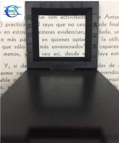 EUROXANTY-Pack de 2 Lupas 10X 28 mm de aleaci/ón de zinc Mini Lupa plegable con escala para la herramienta Lupa plegable Tela PVC /óptico Negro