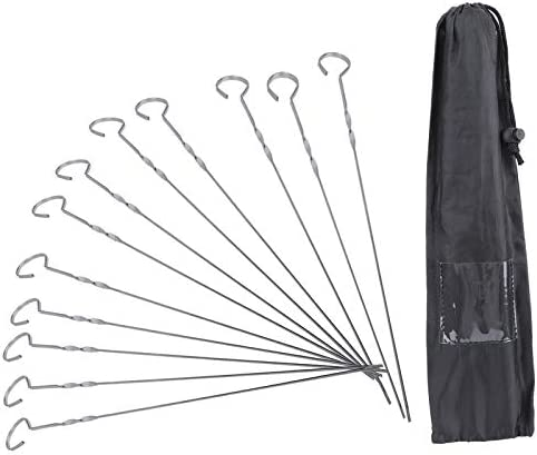 Barbecuestokspiesjes 14 inch BBQspiesjes Set Draagbaar roestvrijstalen barbecuestokjes Naald Accessoire voor buitengrill