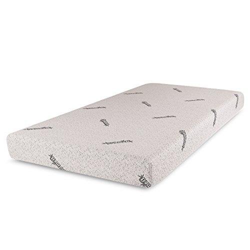 6' Mattress (Cr Sleep Gel Infused Memory Foam Mattress with Bamboo Cover, Twin, 6'' W)
