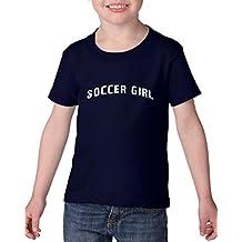 Xekia Soccer Girl USA Soccer Jersey Heavy Cotton Toddler Kids T-Shirt Tee Clothing