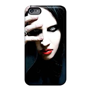 Shock-Absorbing Hard Phone Case For Apple Iphone 6 (nie1949gOPm) Customized Beautiful Marilyn Manson Pictures