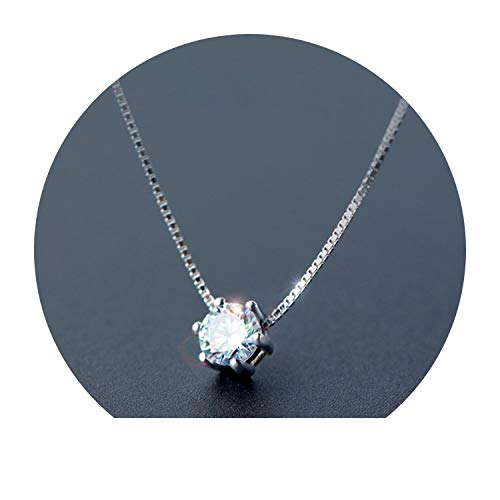 Women's Fashion 925 Sterling Silver Jewelry Cool Pendant Short 41cm Necklace Cute Gift Girls Lady
