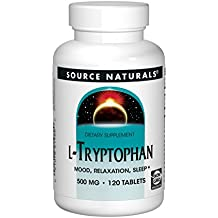 SOURCE NATURALS L-Tryptophan 500 Mg Tablet, 120 Count