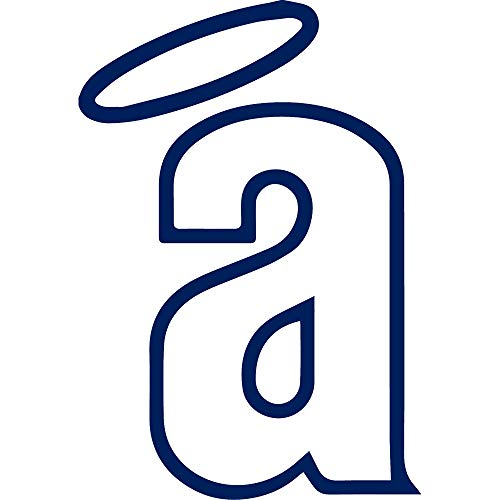 NBFU DECALS The Los Angeles Angels of Anaheim (Navy Blue) (Set of 2) Premium Waterproof Vinyl Decal Stickers for Laptop Phone Accessory Helmet CAR Window Bumper Mug Tuber Cup Door Wall Decoration Anaheim 14' Art Glass