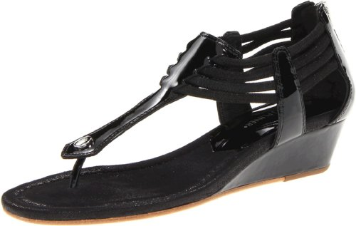 Donald J Pliner Women's Dyna Patent Wedge Sandal,Black,9 M US ()