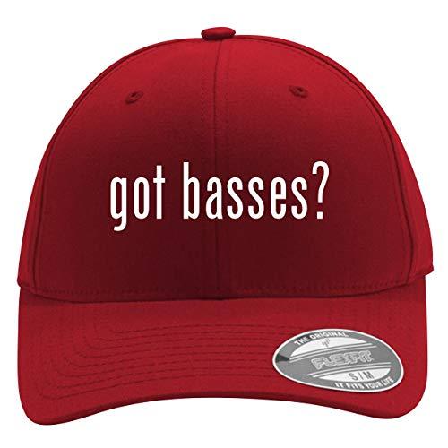 got Basses? - Men's Flexfit Baseball Cap Hat, Red, Small/Medium