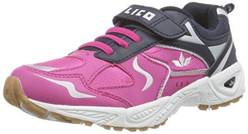 Lico Bob VS - zapatillas deportivas de material sintético niño rosa - Pink (pink/marine)
